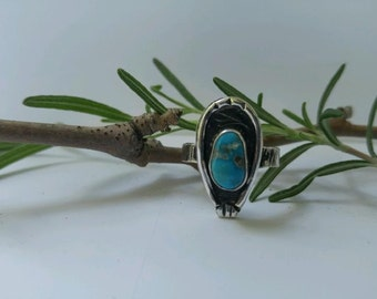 SALE! Taos Ring| Natural Turquoise & Sterling Silver