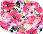 Organic Crib Sheet Pink Watercolor Flowers, Fitted Crib Sheet, Baby Bedding, Crib Bedding, Spril Bedding,Floral Crib Sheet,Baby Girl Bedding