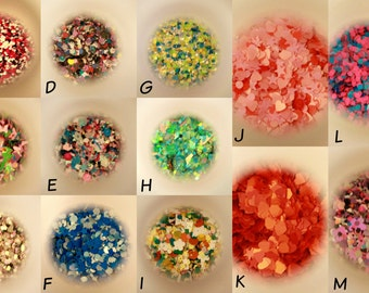 Solvent Resistant Glitter Mixes - 5g bags!