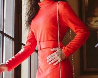 1960s So vintage Belted Dress