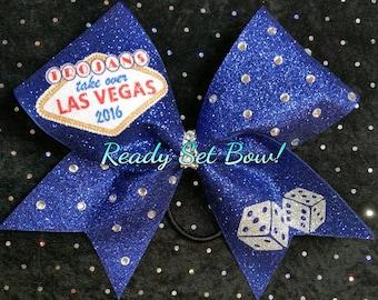 Las Vegas Cheer bow