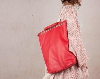 Grande sac a dos, Sac a Dos en cuir, sac à dos grande , sac à dos en cuir sac à main, sac à dos en cuir des femmes, sac à dos en cuir rouge