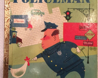 The Little Fat Policeman; 1950; A Edition; Little Golden Book
