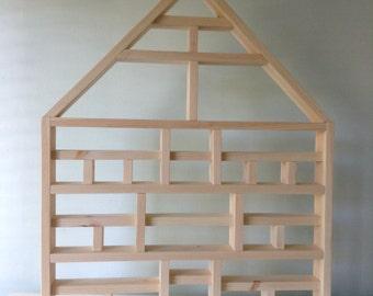 PREMADE Customizable Shadowbox House Frame Wall Decor Handmade Shadow Box Toy display