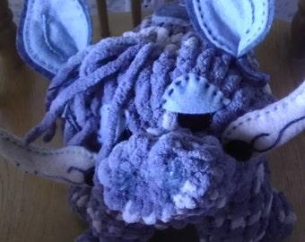 Boar - plush, OOAK, handmade
