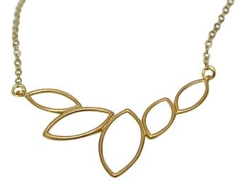 Gold Plated Leaf Chain Necklace