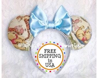 Winnie the Pooh Minnie Mouse Ears Headband Disney piglet tigger eeyore