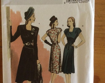 Retro Butterick 46 reproduction pattern 5281 size 14-22 uncut