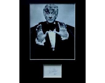 Jon Pertwee AUTOGRAPH photo display Dr Who