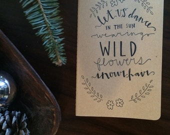 Moleskine Journal - Wild Flowers