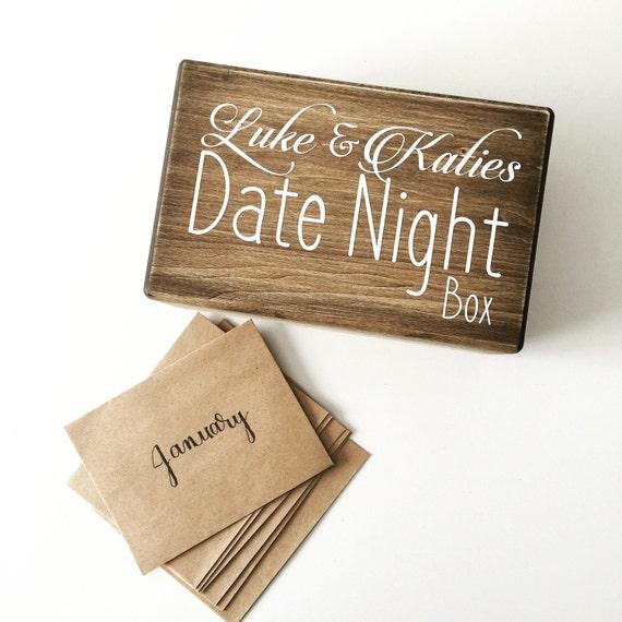 Date Night Box Date Night Fund Couples Ideas Keepsake Box