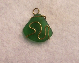 Superior Simple And Fun Wire Wrapped Natural Bahamian Sea Glass Pendant Great Pictures