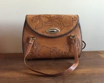 Hand Tooled Leather Mexican Southwestern Purse