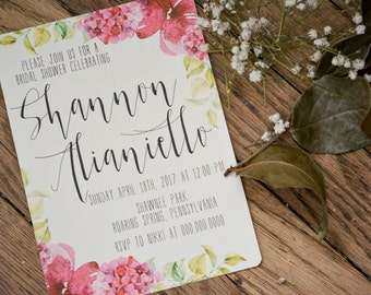 FLORAL|Bridal Shower Invitations #5