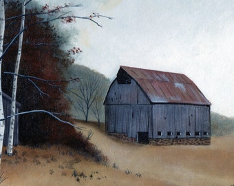 Country Barn note cards, Set of 5