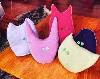 Upcycled cashmere little monsters