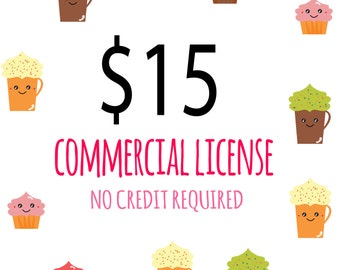 COMMERCIAL LICENSE / Over 100 digital projects or 500 copies