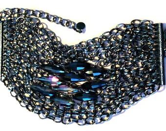 Statement Multi Strand Beaded Bracelet