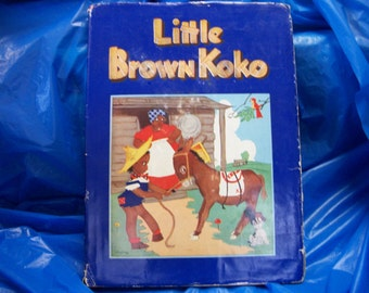 Adorable 1940 Little Brown Koko book with DJ by Blanch Seal Hunt