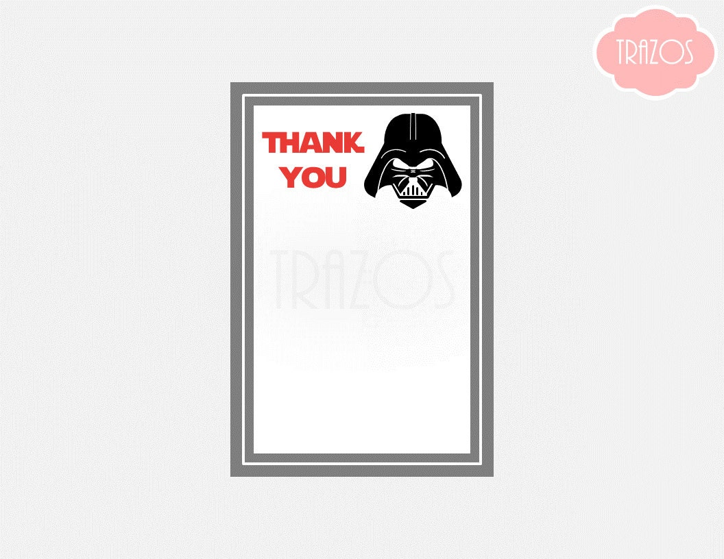 Darth Vader Thank You Notes Darth Vader Cards Darth Vader