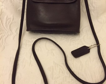 Vintage coach brown leather bag