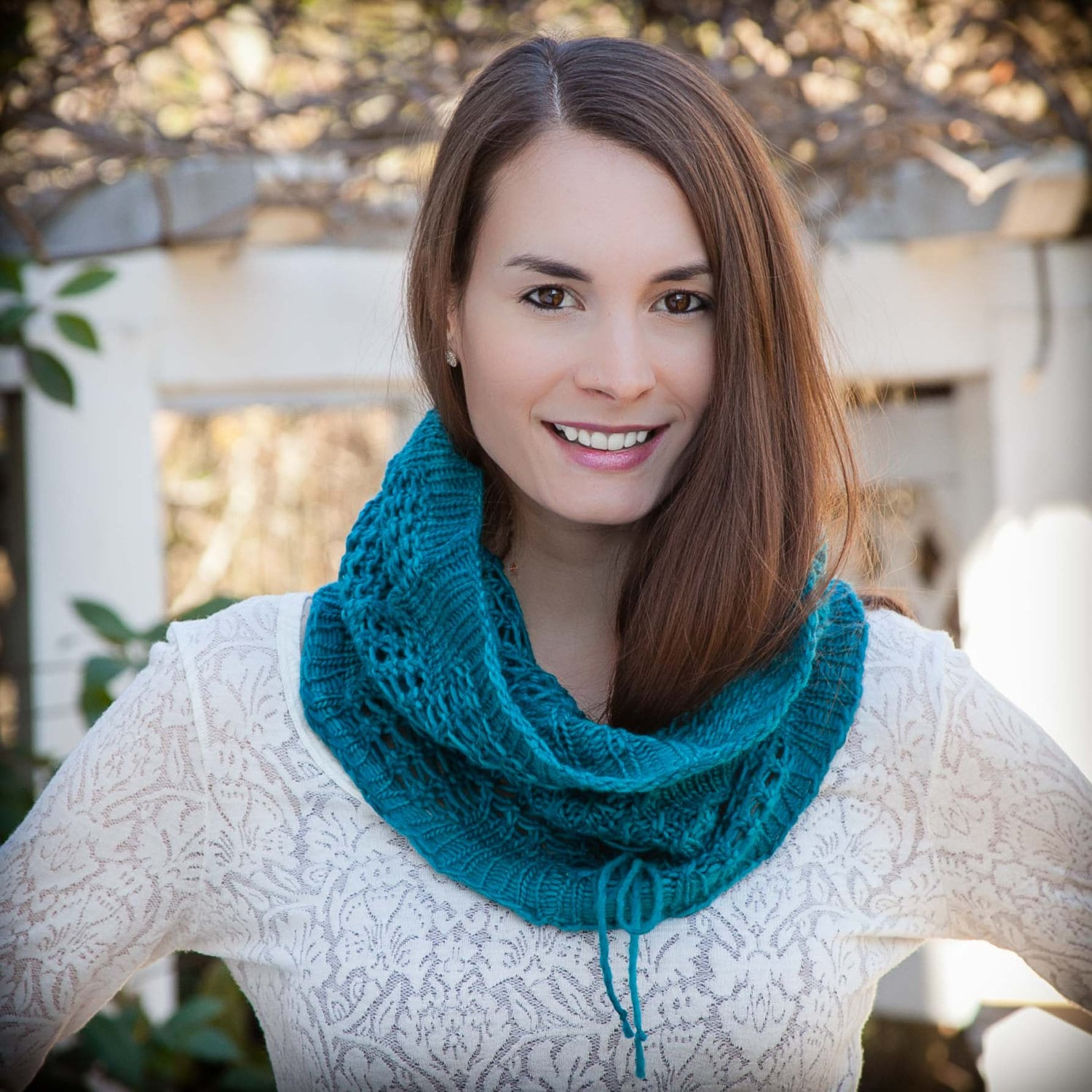 Loom Knit Snood Cowl PATTERN. Lace Snood, Infinity Scarf, Easy lace loom knit...