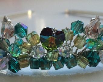 Hand Made Tiara - Wedding - Hair - Headband - Swarovski - Crystal - Bride - Bridesmaid - Made to Order