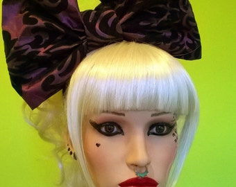 Huge Damask bow headband (SALE WAS 50.00)