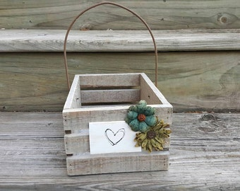 Flower Girl Basket- Wedding Favor Basket- Woodland - Storybook- Enchanted Forest- Outdoor Wedding
