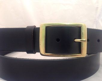"""SALE 20% OFF - Handmade Jeans Bridle Leather belt - 1.5"""" wide hand tooled belt, real leather belt, made to measure, can be personalized"""