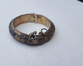 old tunisian bracelet,gilded with enamel