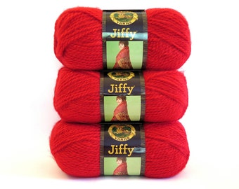 Red Jiffy Yarn Lion Brand Craft Supplies