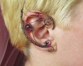 Pair of ear cuffs The Queen (Dark)