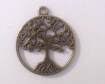 Celtic Tree of Life - Peace Tree Pendant, Antique Bronze finish, for jewellery making