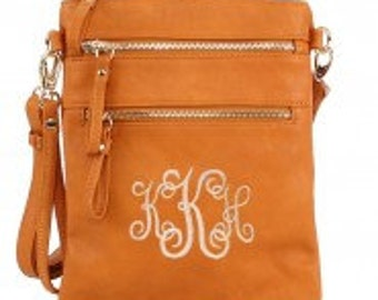 Leather Crossbody with FREE MONOGRAMMING