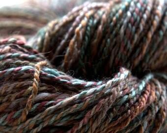 Silk and alpaca 2 ply yarn