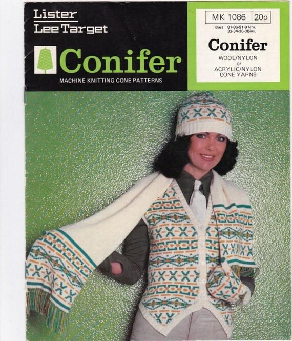 Ladies Fair Isle waistcoat, scarf, hat and mittens - vintage ...