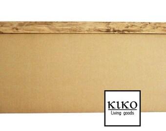 Headboard, wood headboard, upholstered headboard, rustic headboard, linen headboard, wood trim headboard, wall headboard, burlap headboard