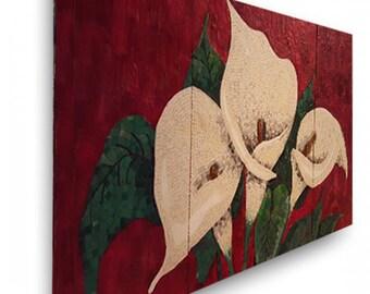 Lilly mosaic canvas wrap print