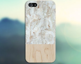 Tan x White Marble Swirl x Light Wood Design Phone Case for iPhone 6 6 Plus iPhone 7  Samsung Galaxy s8 edge s6 and Note  S8 Plus Phone Case