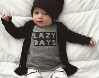 Baby Boys Outfit, Lazy Days Outfit, Boys Outfit, photo prop, boys birthday, Boys Clothing, Clothing for boys, Boys Clothing Sets