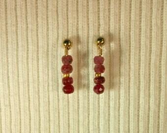 Ruby Earrings # 309E