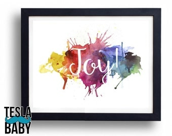 """Watercolor Name Art - 11"""" x 14"""" Color Giclee Print"""
