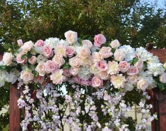 Wedding Arch, Chuppah Arch,  Silk Flower Arch, Wedding table backdrop, Silk Flower Backdrop, Silk Wedding Arch