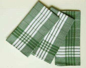 Vintage cotton handkerchiefs for men set of three