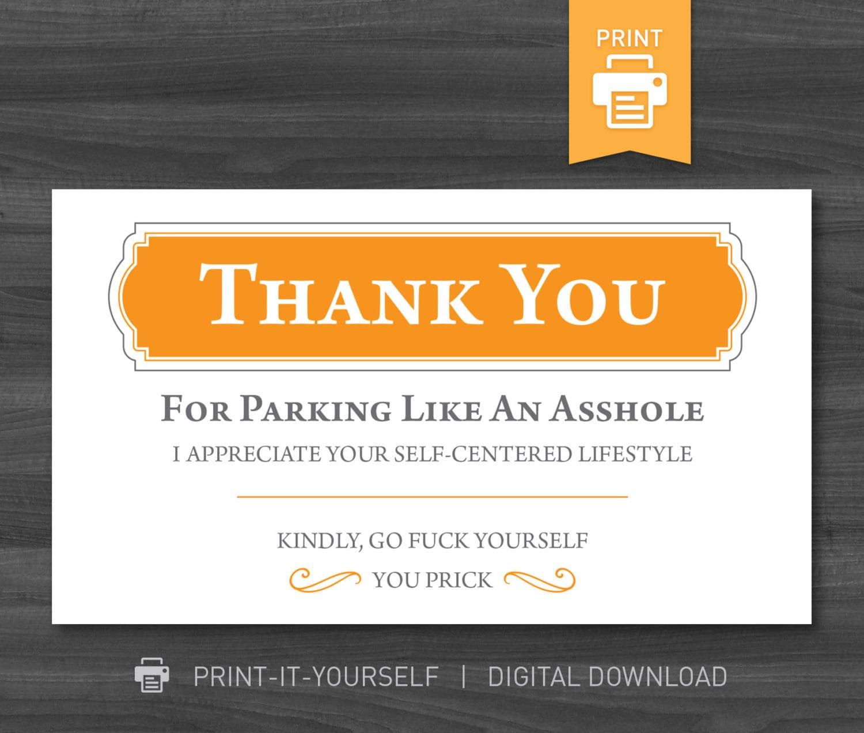 You Park Like an Asshole Helps You Share Your Feelings