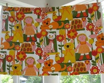 Childrens 1970's Fun Upholstery Screen Print