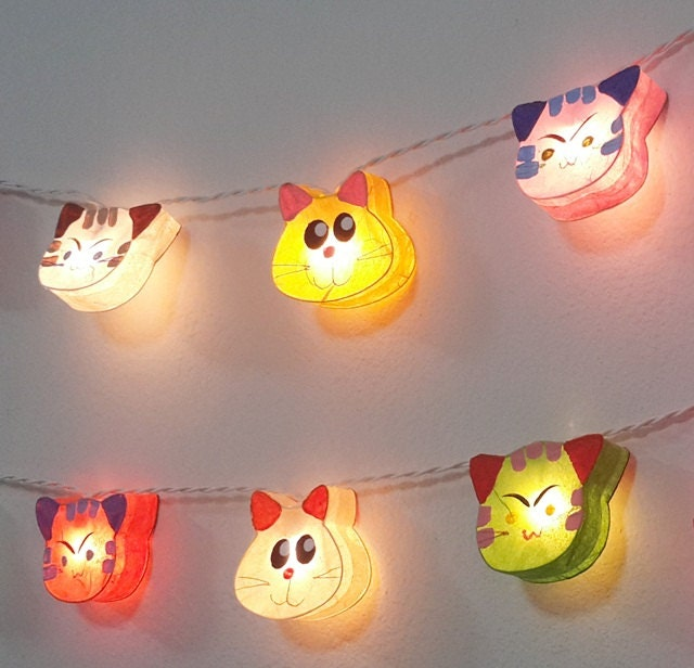 string lights lovely happy cat mix 20 party patio fairy decor