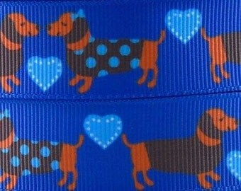 7/8''22mm Printed Grosgrain Ribbon, Hair Bow Ribbon, Bow Ribbon, Ribbon by the Yard, Scrapbooking,Hairbows, Puppy Ribbon