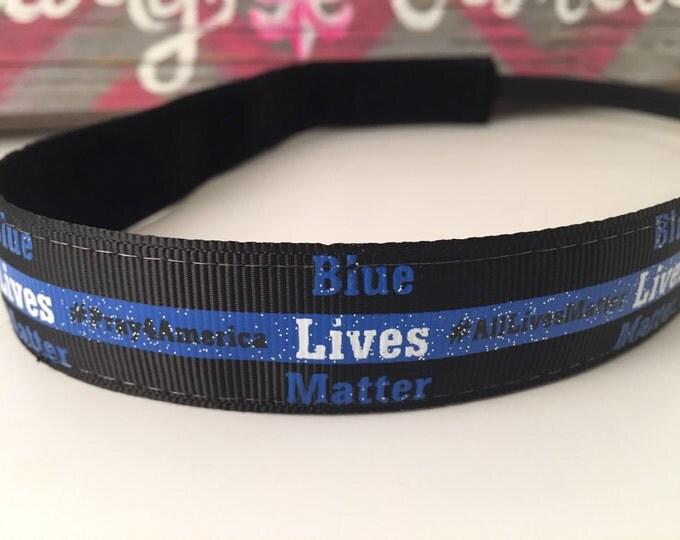 Nonslip Headband Blue Lives Matter